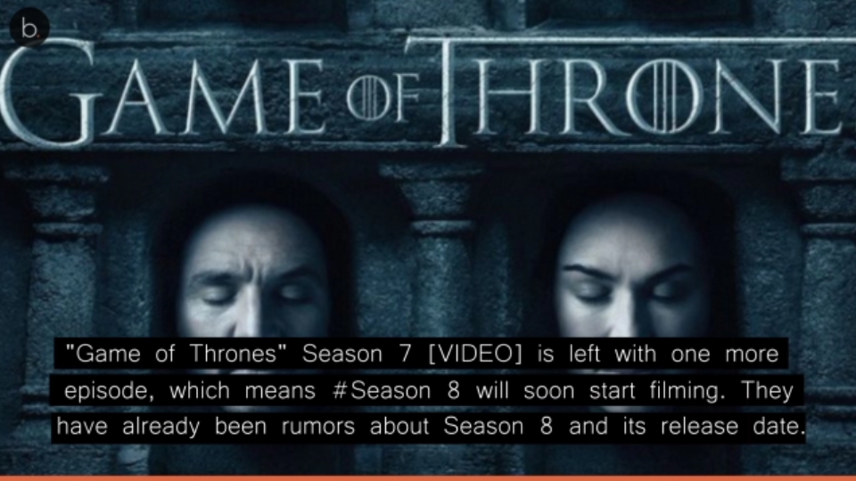 Game Of Thrones Season 8 Release Date: 'Game Of Thrones' Season 8: Release Date, Update, All You