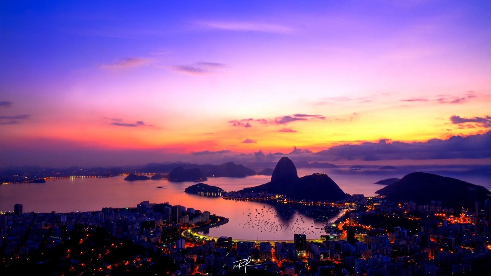 Рио-де-Жанейро перед рассветом  № 1457633  скачать