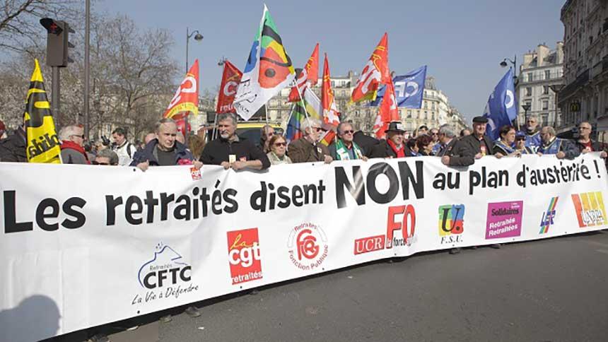 Retraités et syndicats ont manifesté pour le pouvoir d'achat