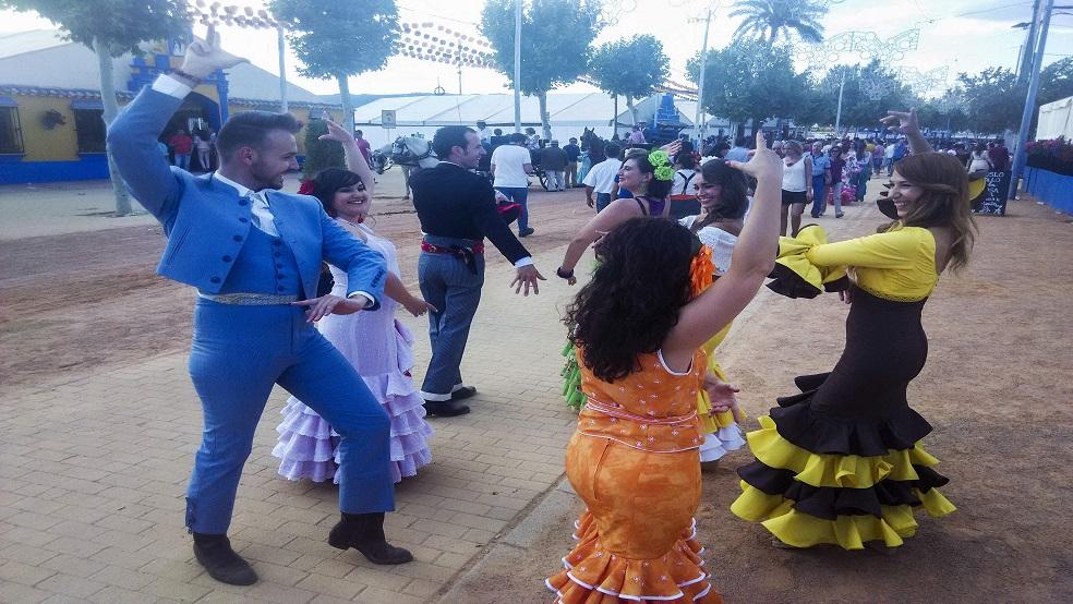 Baile popular de la Feria de Córdoba.