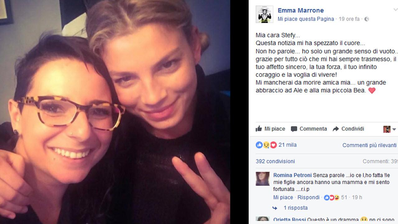 Morta la mamma di Bea 'la bambina di pietra', il cordoglio di Emma Marrone