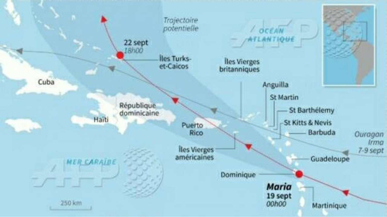 La course folle de Maria à travers les Antilles