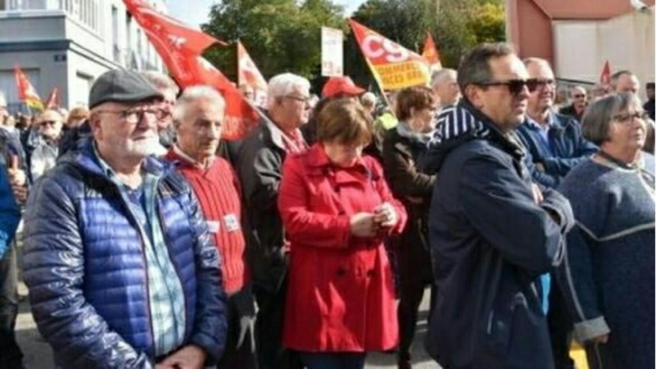 2000 retraités manifestent en Bretagne