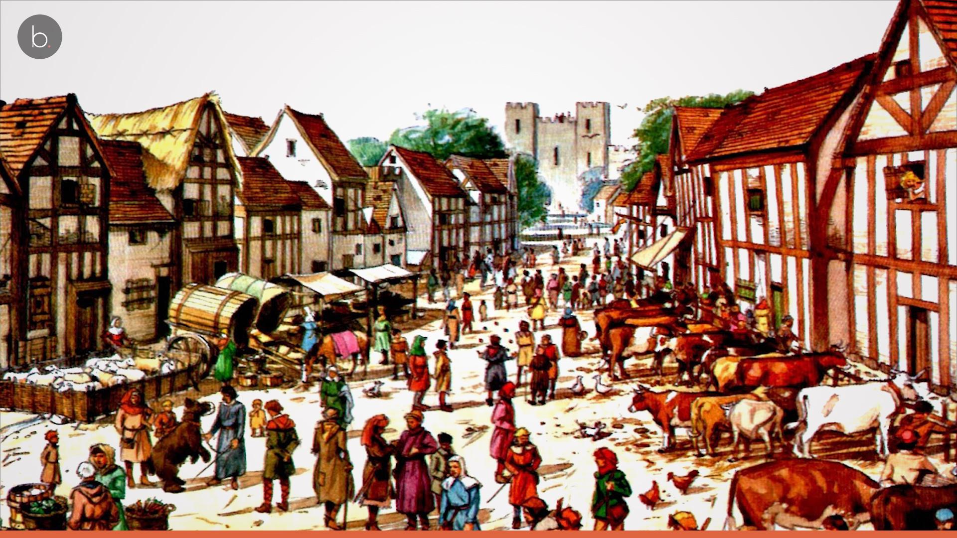 картинки средневековый город и его жители это