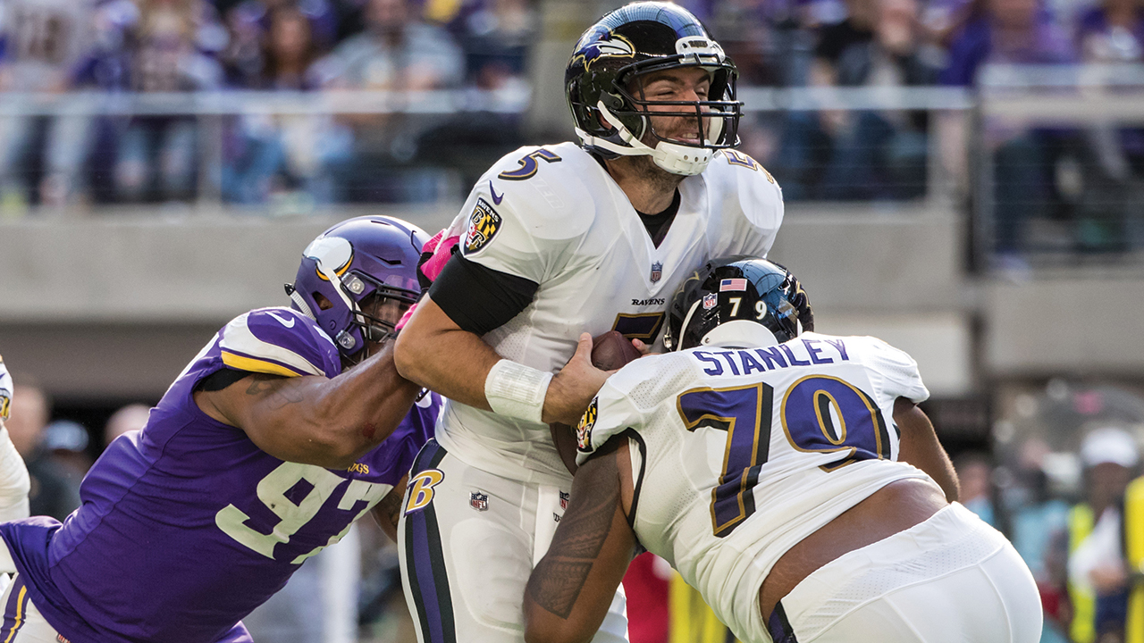 Joe Flacco has concussion after a brutal hit by Kiko Alonso