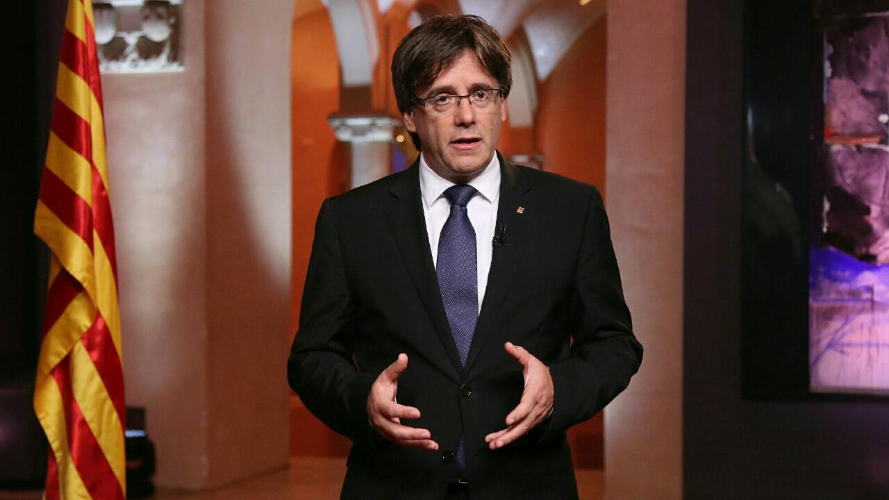 Carles Puigdemont s'est exprimé depuis la Belgique