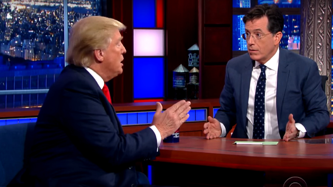 Stephen Colbert puts Trump on notice for his narcissism during his Asian trip