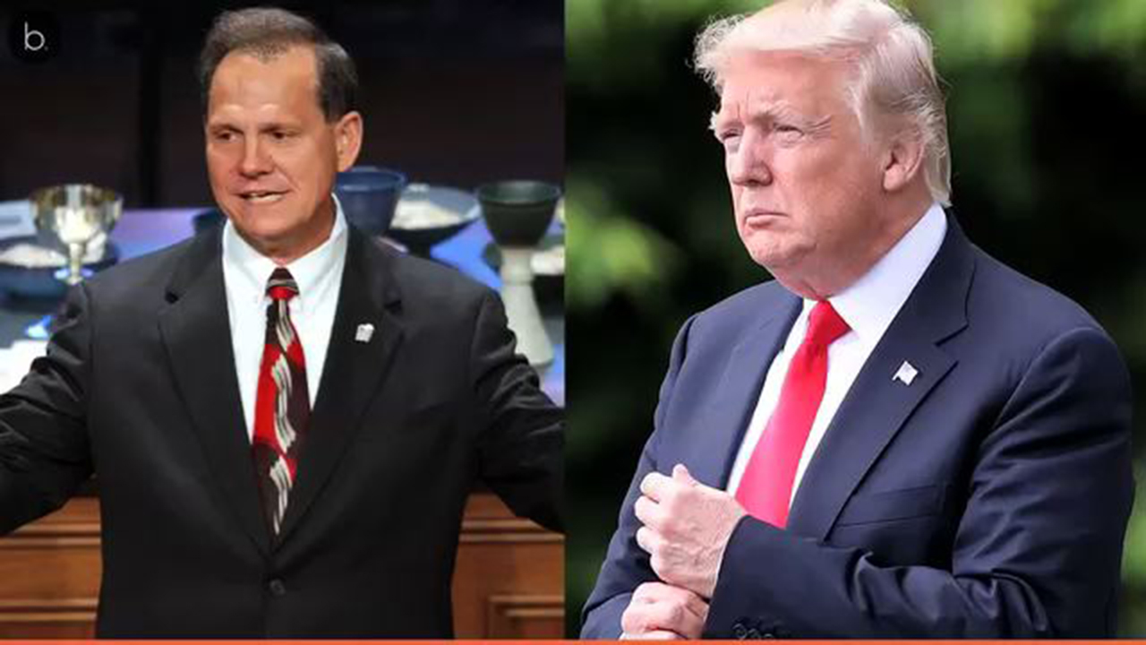 Trump destroyed on Twitter after being linked to Roy Moore by Hollywood celebs