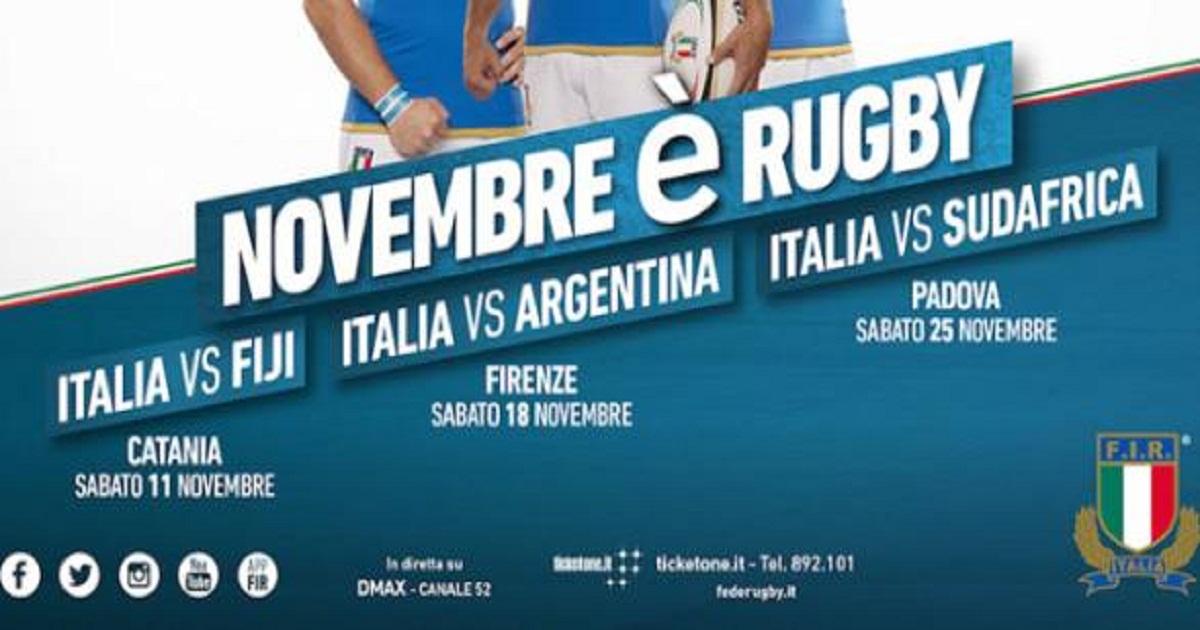Sport, rugby: All'Italia il primo test contro le Fiji