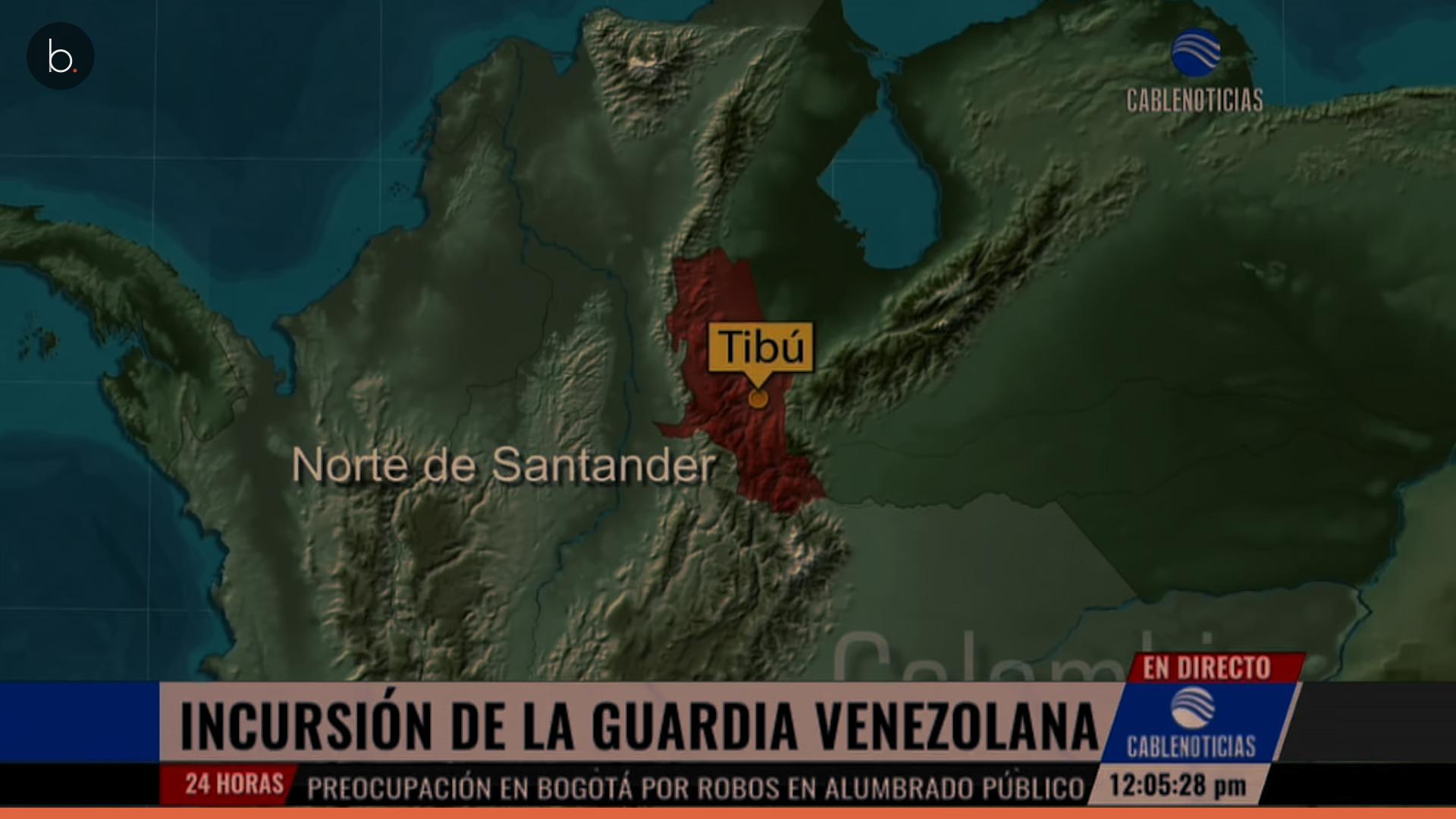 Tensión entre Venezuela y Colombia