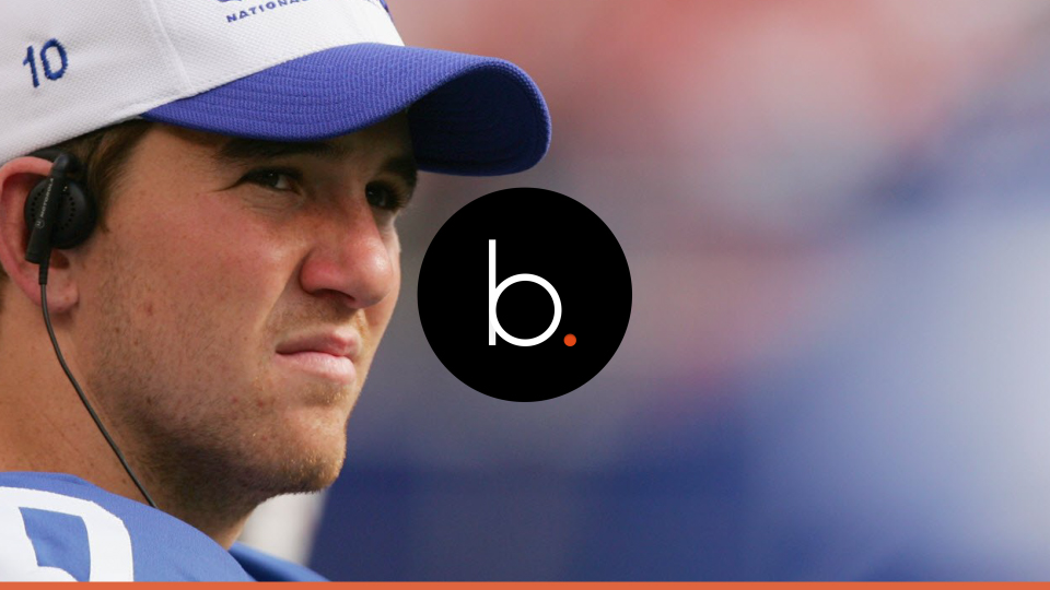 What was going on in sports the last time Eli Manning did not start a game ?