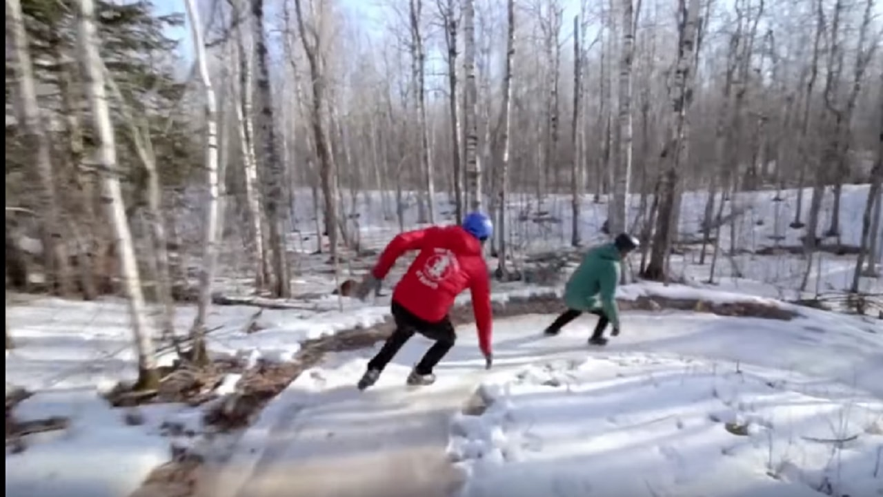 Forest skating is the latest in wintertime fun