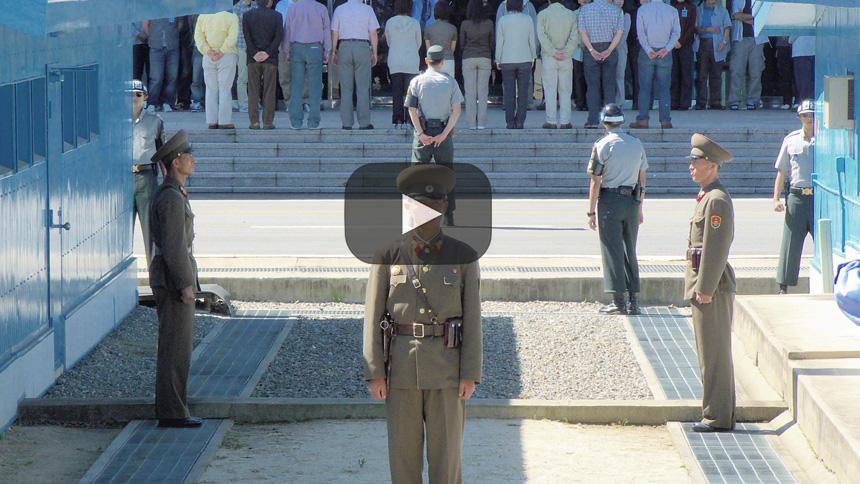 La delegación de Corea del Sur visita el Monte Geumgang