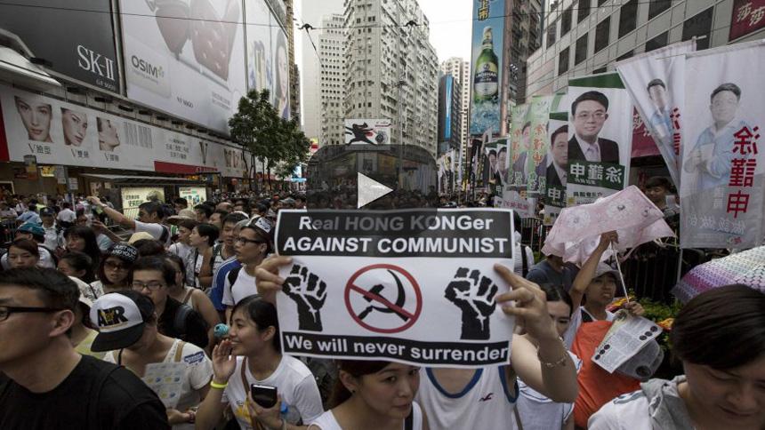 Hong Kong impide que los jóvenes protesten por un cambio democrático