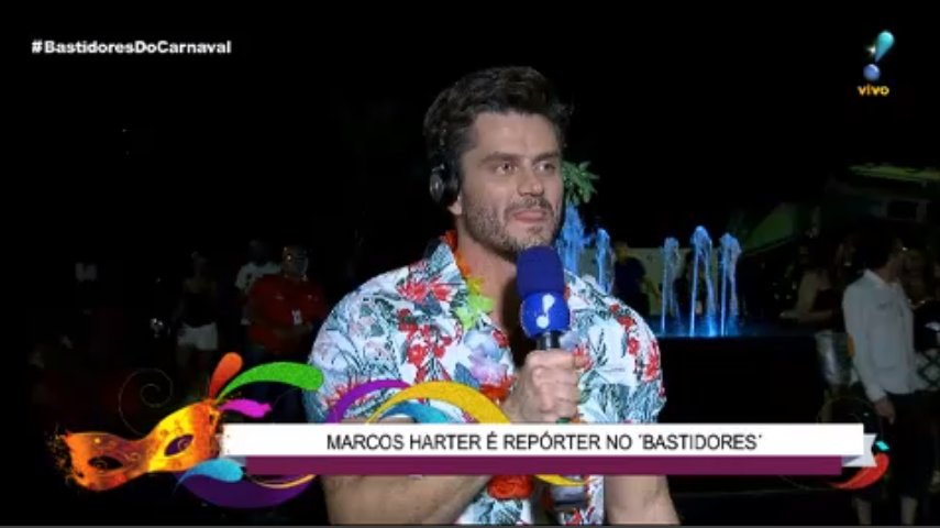 Marcos Harter ex-'BBB17', agradece aos fãs depois da cobertura do carnaval 2018.