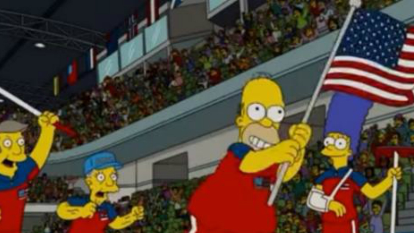 'The Simpsons' predicted the U.S. men's curling gold medal