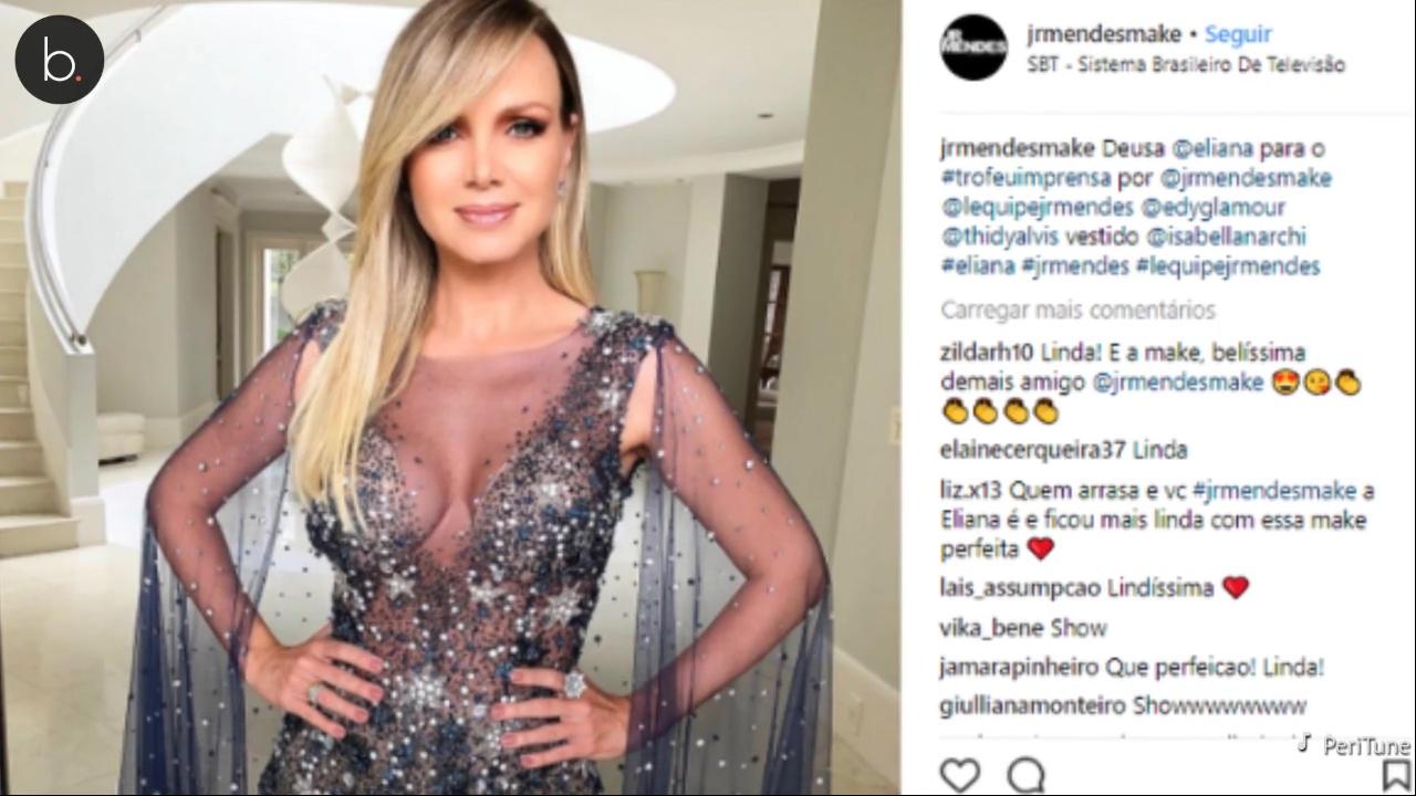 Trofeu Imprensa, Eliana surge deslumbrante com vestido transparente, veja vídeo