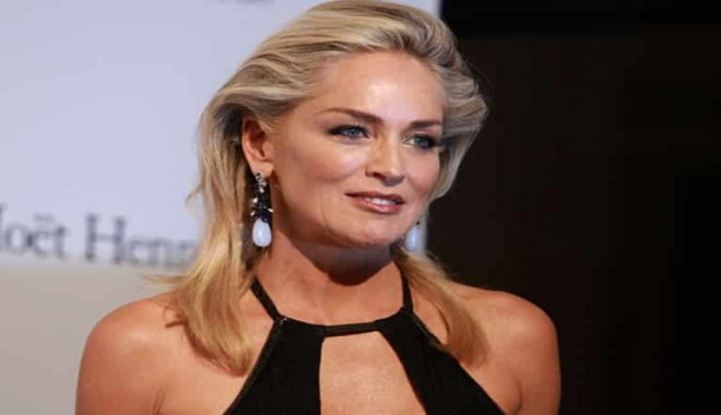 Sharon Stone takes an embarrassing fall on the street