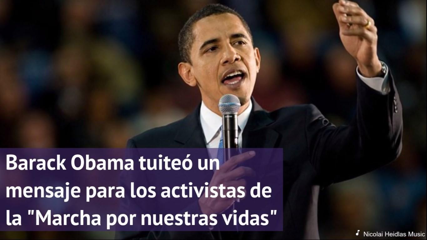 """Obama:'Michelle y yo estamos inspirados por los jóvenes"""" que se han manifestado"""