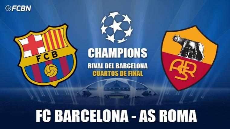 FC Barcelona se enfrenta a la Roma en los cuartos de final de la Champions