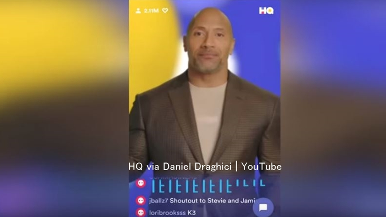 Dwayne 'The Rock' Johnson co-hosts on 'HQ' to promote 'Rampage'