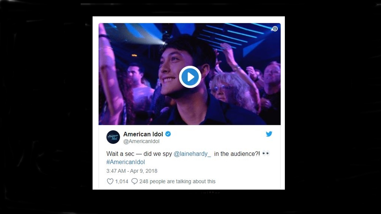 'American Idol': Laine Hardy was seen in the audience