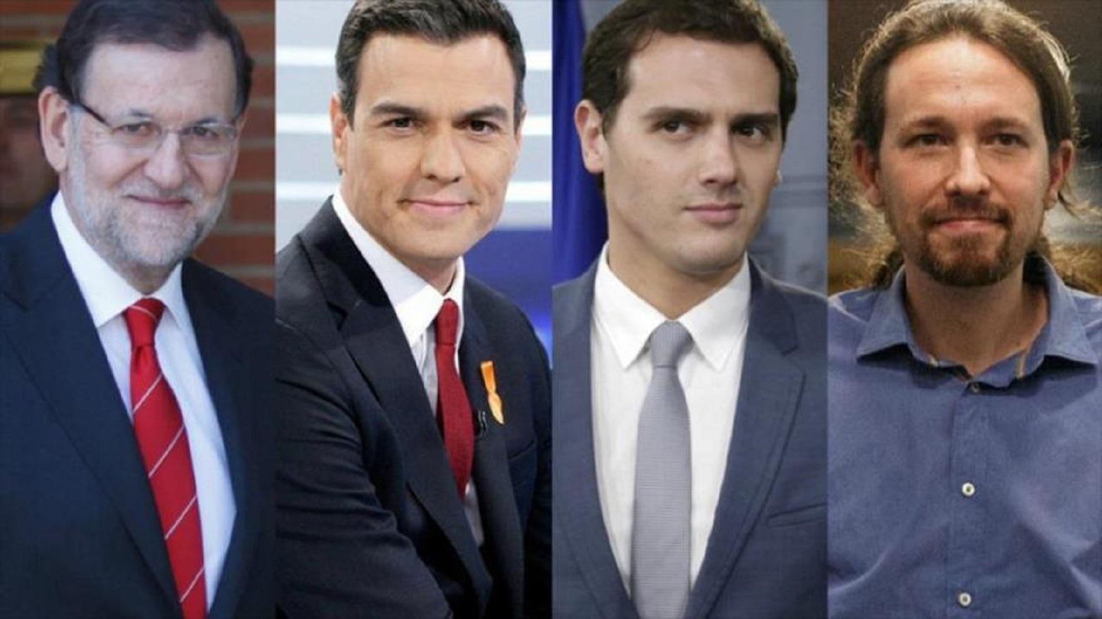 España: Los principales dirigentes de los partidos políticos de izquierda