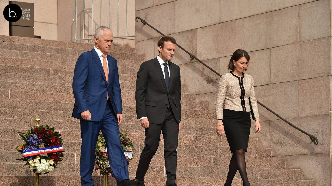 Emmanuel Macron fait une gaffe en Australie