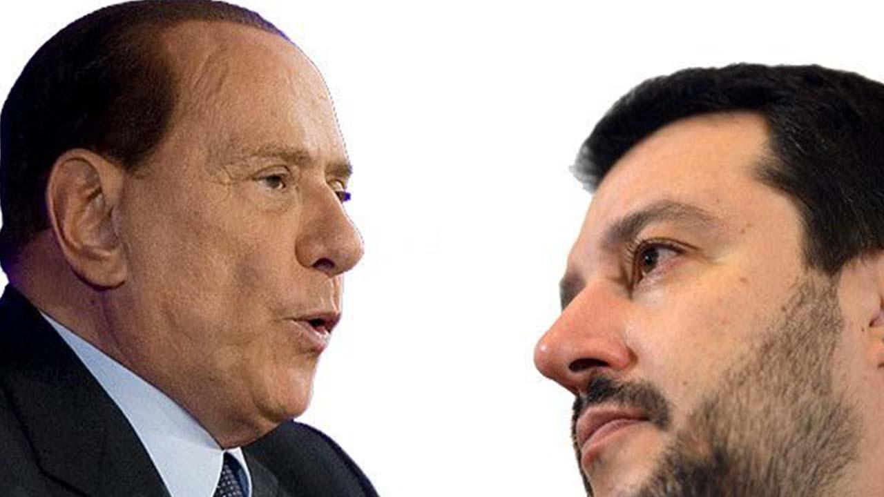 Matteo Salvini e Silvio Berlusconi: frattura all'orizzonte?
