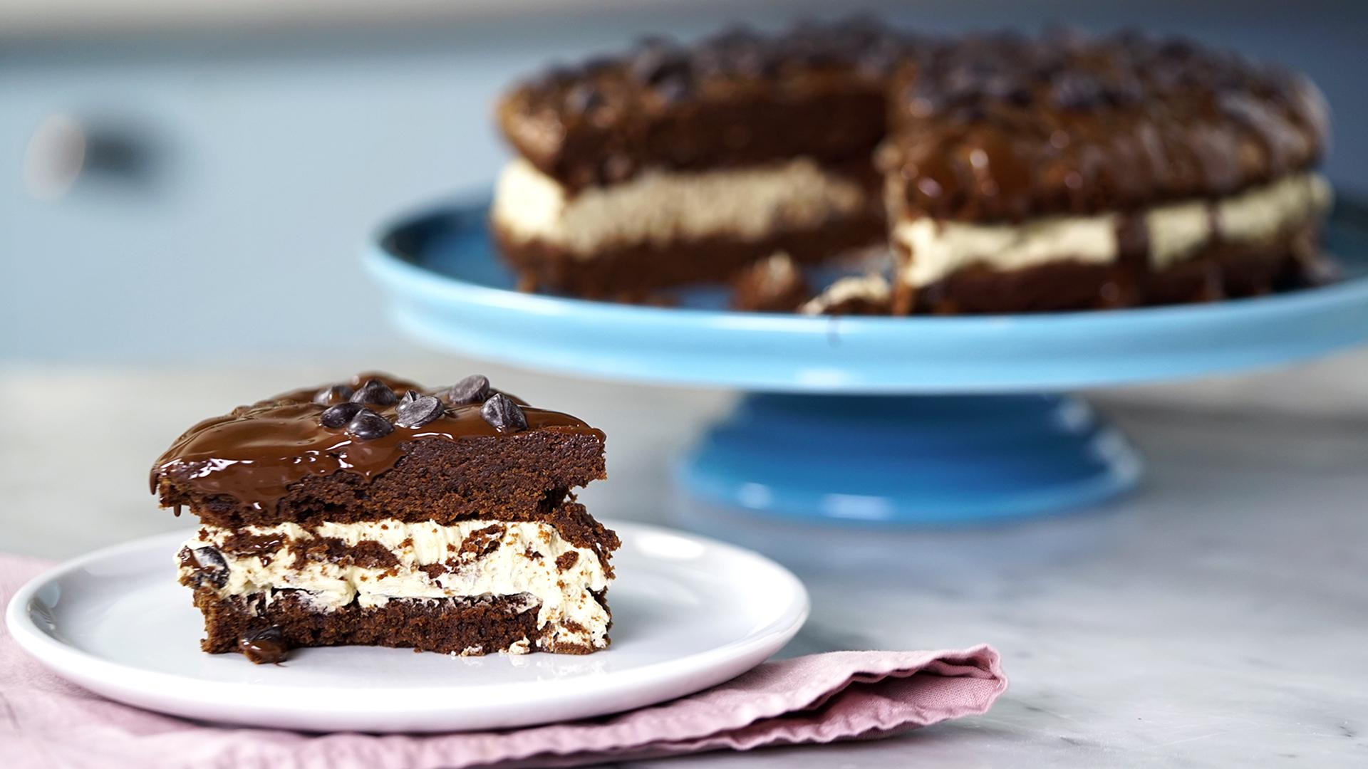 Brownies de chocolate blanco y nueces