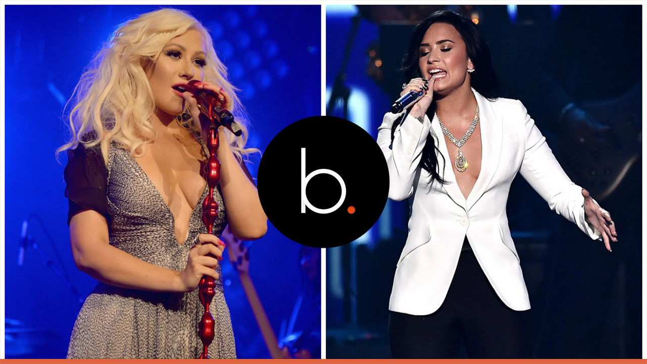 Christina Aguilera and Demi Lovato team up for liberating song 'Fall In Line'