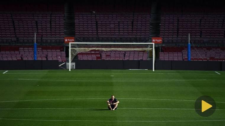 Andrés Iniesta dice adiós al Camp nou