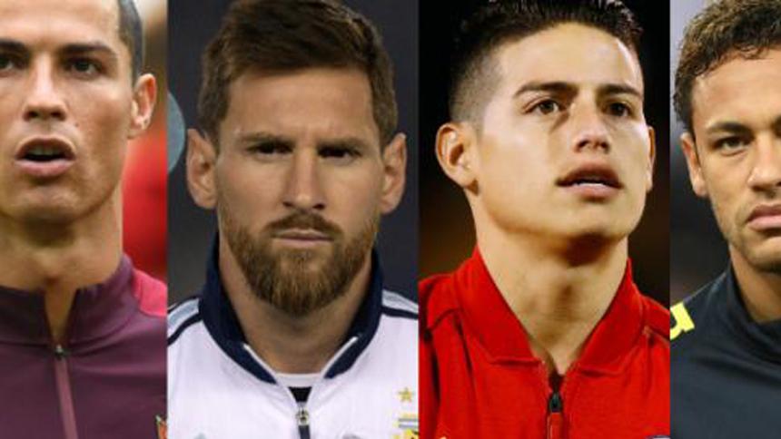 Messi, Ronaldo, James y Neymar ¿Que hacen antes del Mundial Rusia 2018?