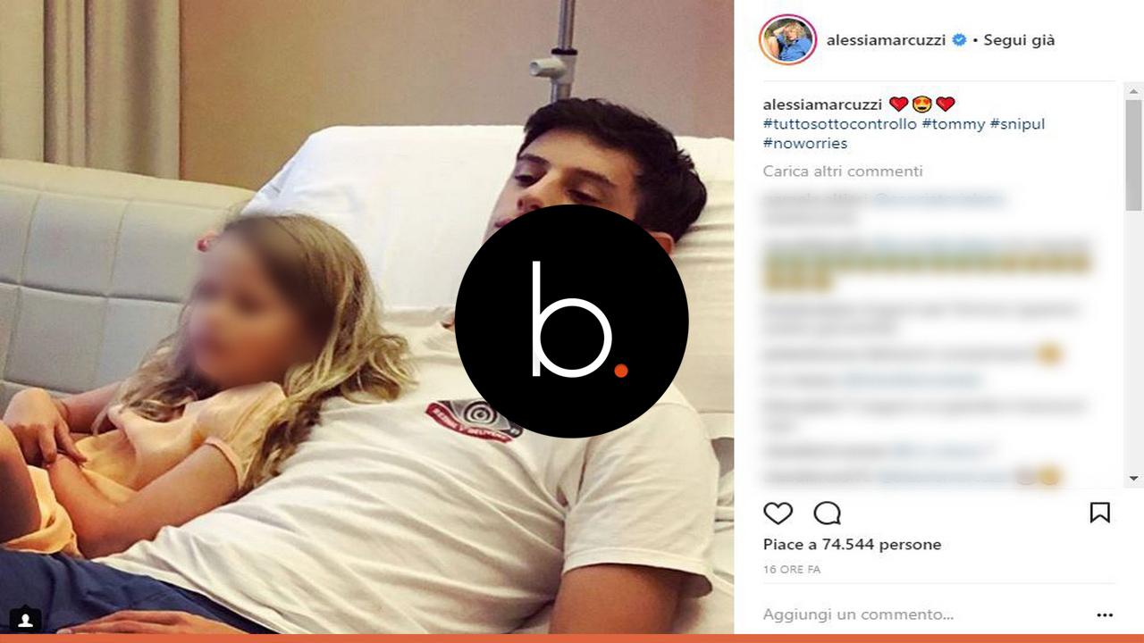 Paura per Alessia Marcuzzi: Tommaso Inzaghi in ospedale per sospetta polmonite