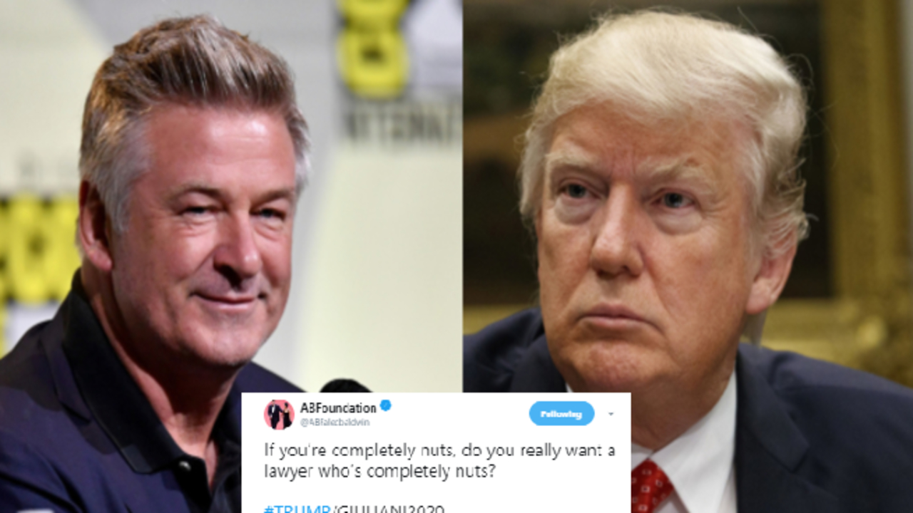 Alec Baldwin took aim at Donald Trump and Rudy Giuliani on Twitter