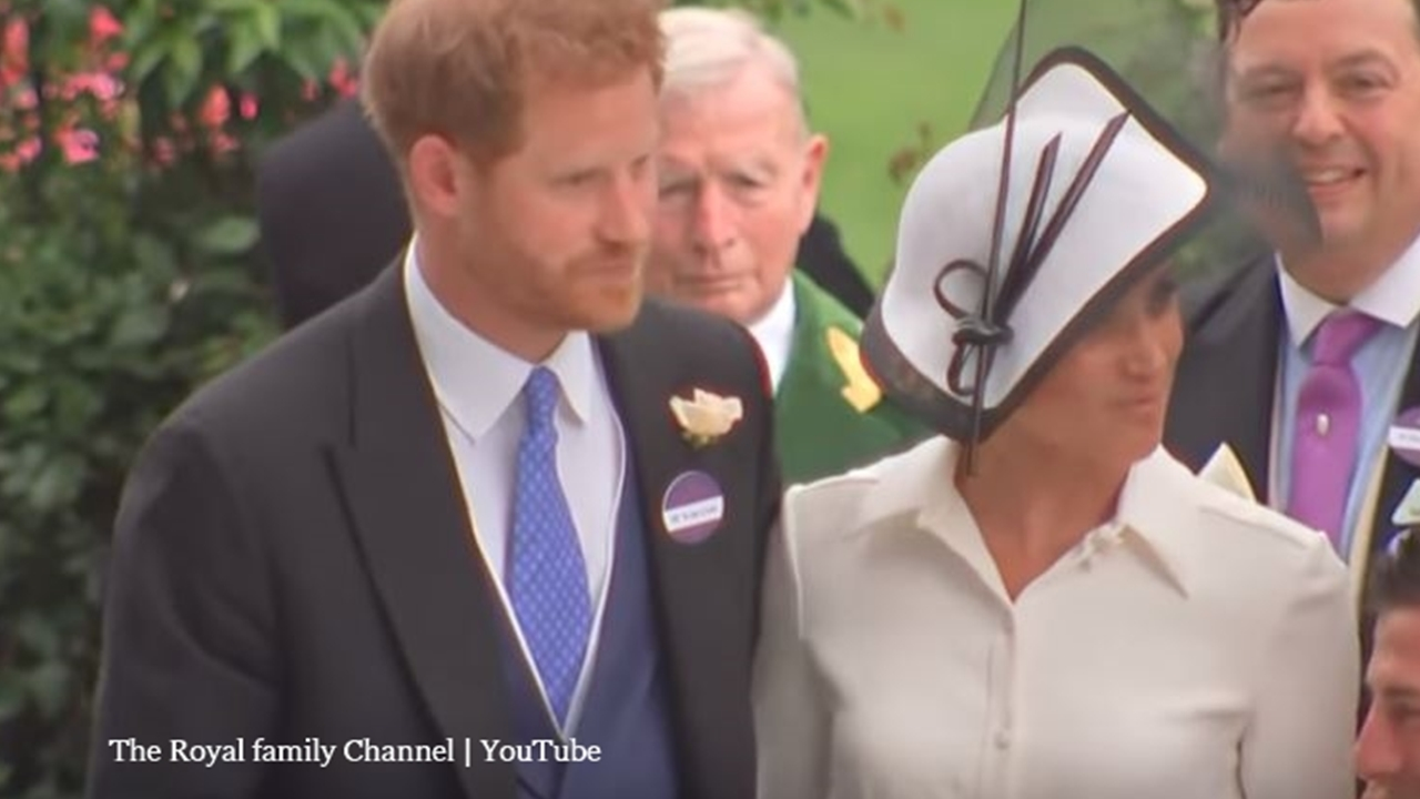 Meghan Markle debuts at the Ascot races with the Queen and Prince Harry