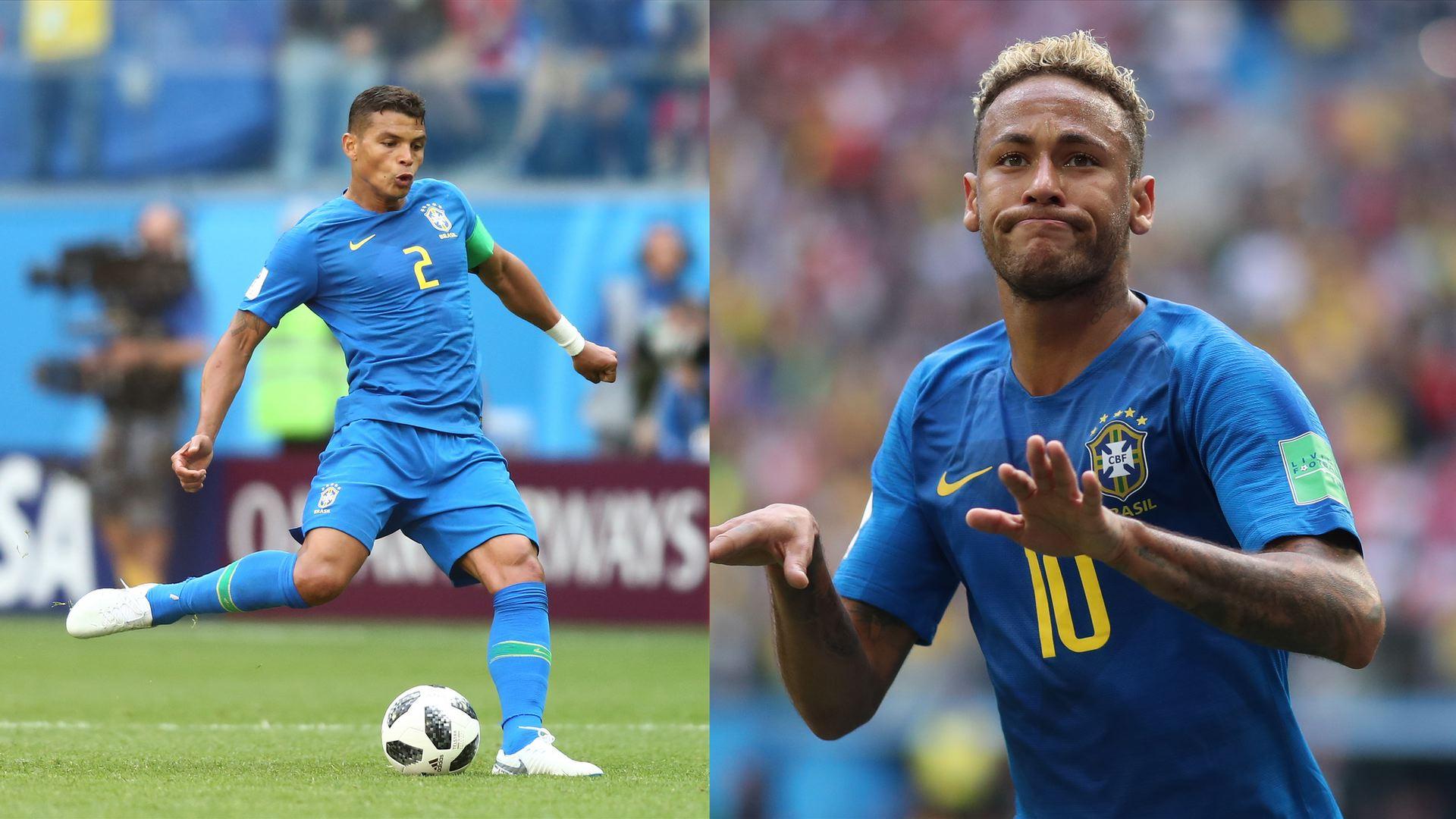 Neymar xingou Thiago Silva durante jogo do Brasil