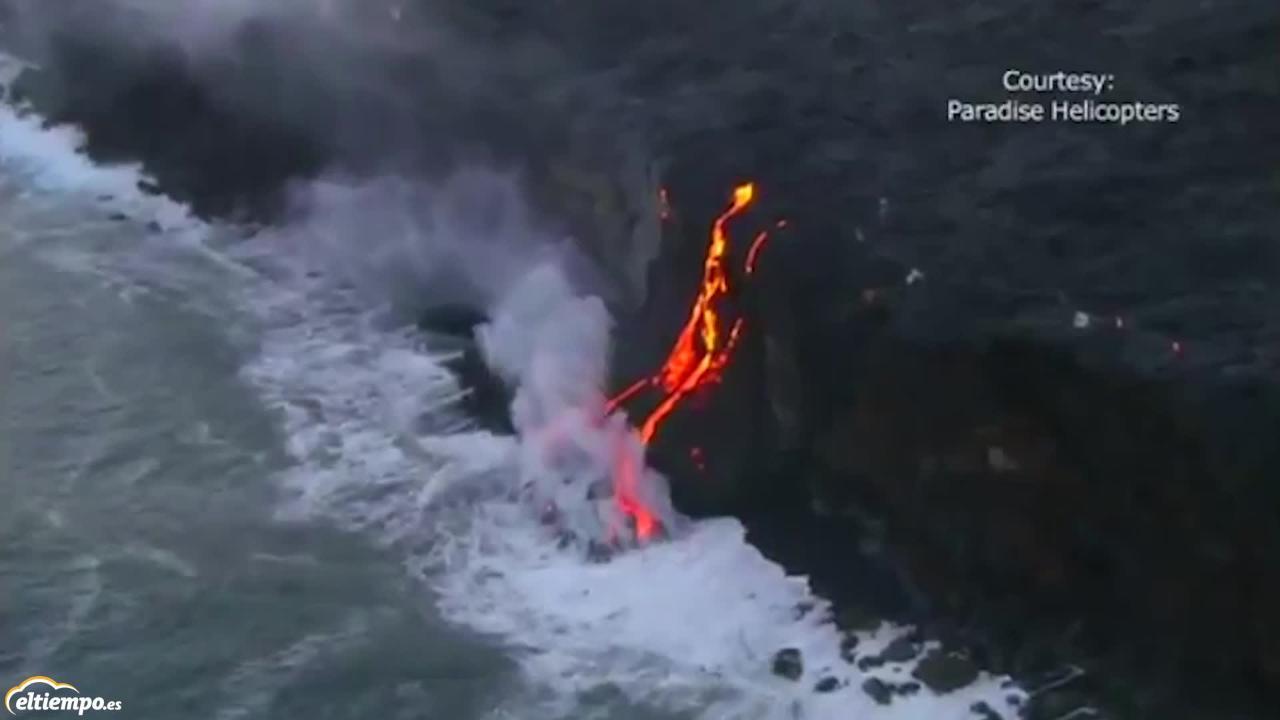 La erupción del Kilauea en Hawái ha creado un gran delta de lava
