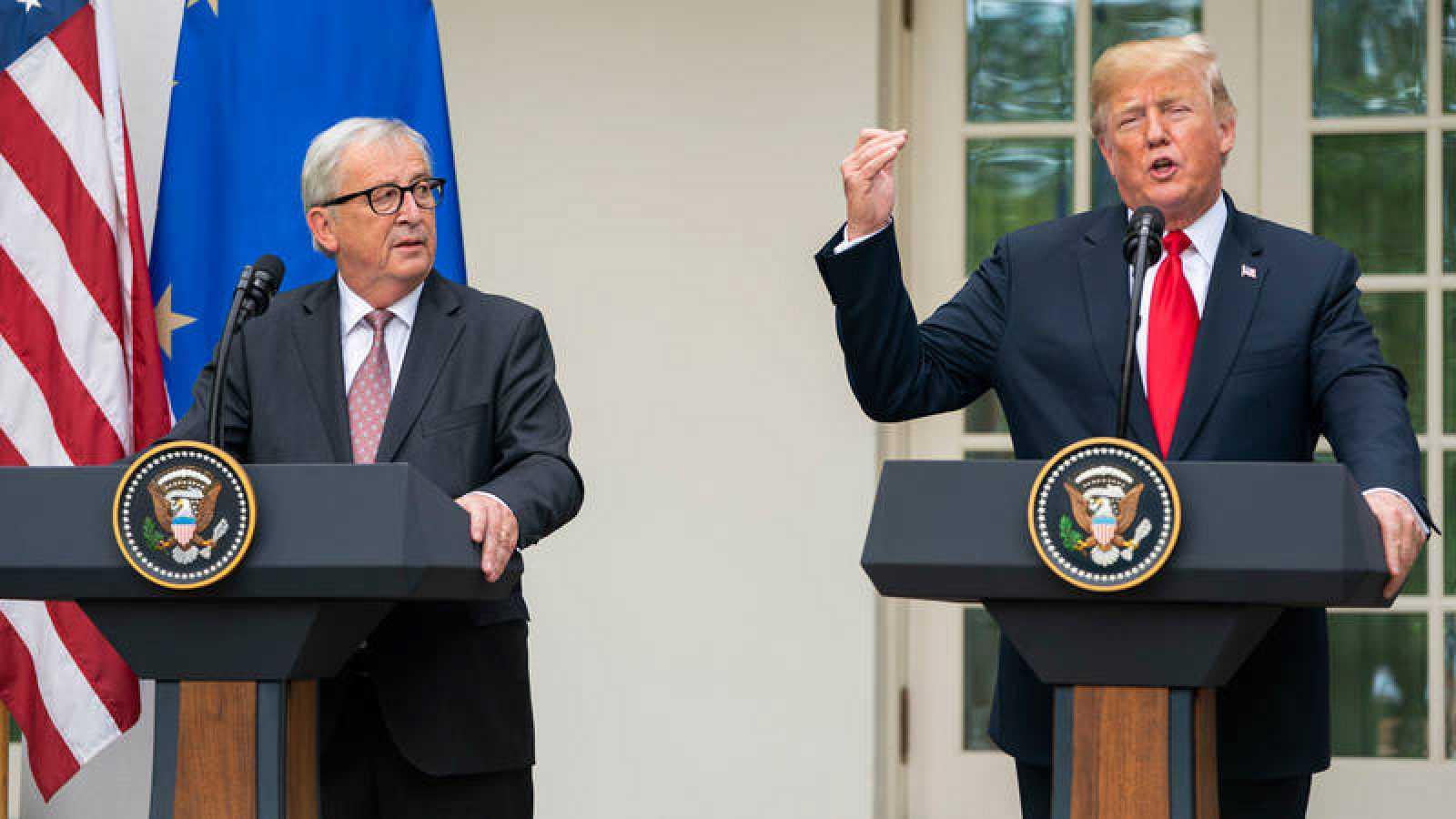 VÍDEO: EE.UU. y UE frenan la guerra comercial arancelaria