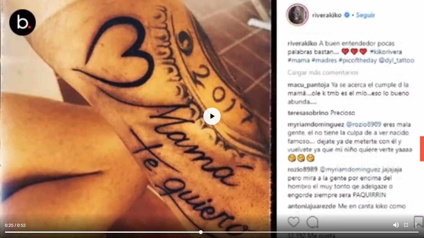 Kiko se tatúa en honor a su madre e Isa prefiere plasmarse el nombre de Anuel