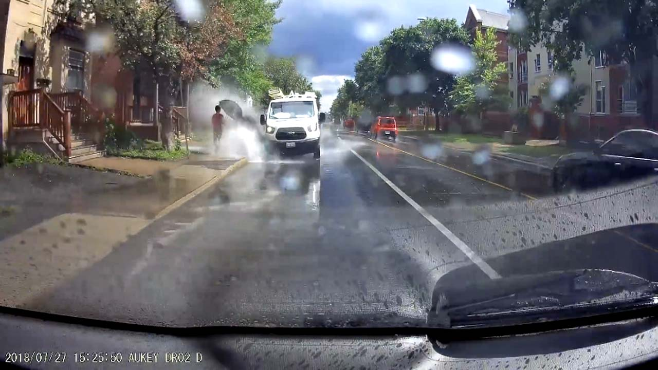 Canadian van driver who purposely splashed pedestrians gets sacked