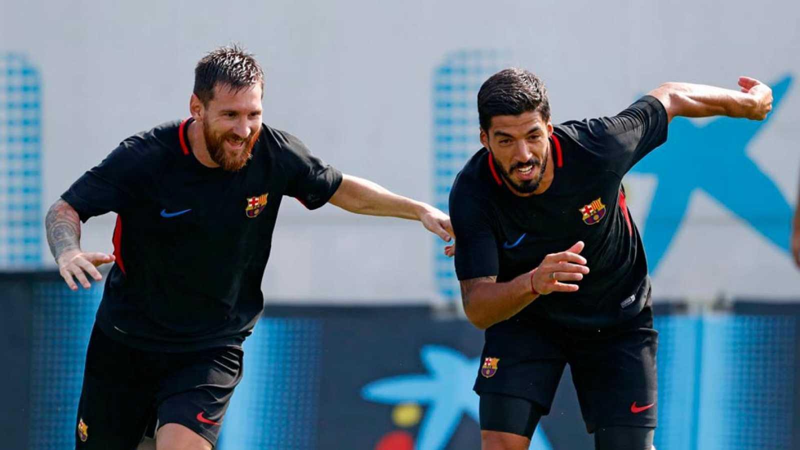 Finalizaron las vacaciones y Messi, Alba, Busquets y Piqué vuelven a entrenar