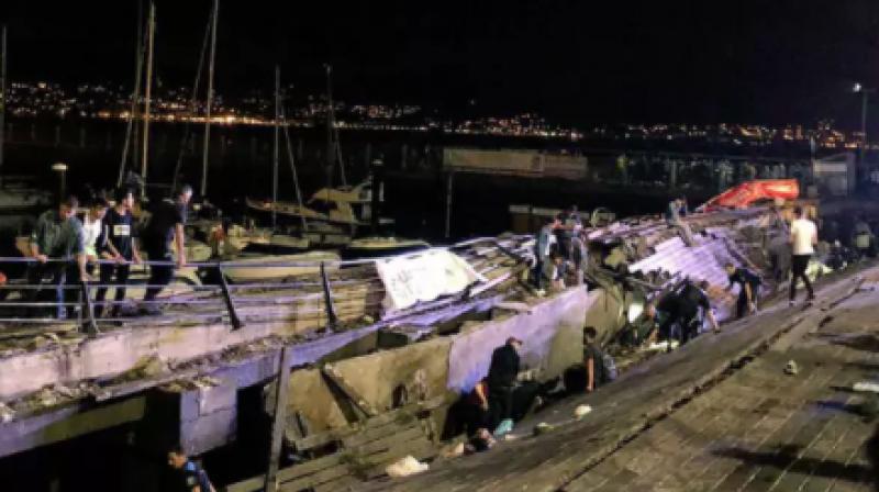 Photos: Vigo festival collapse in Spain injures more than 300