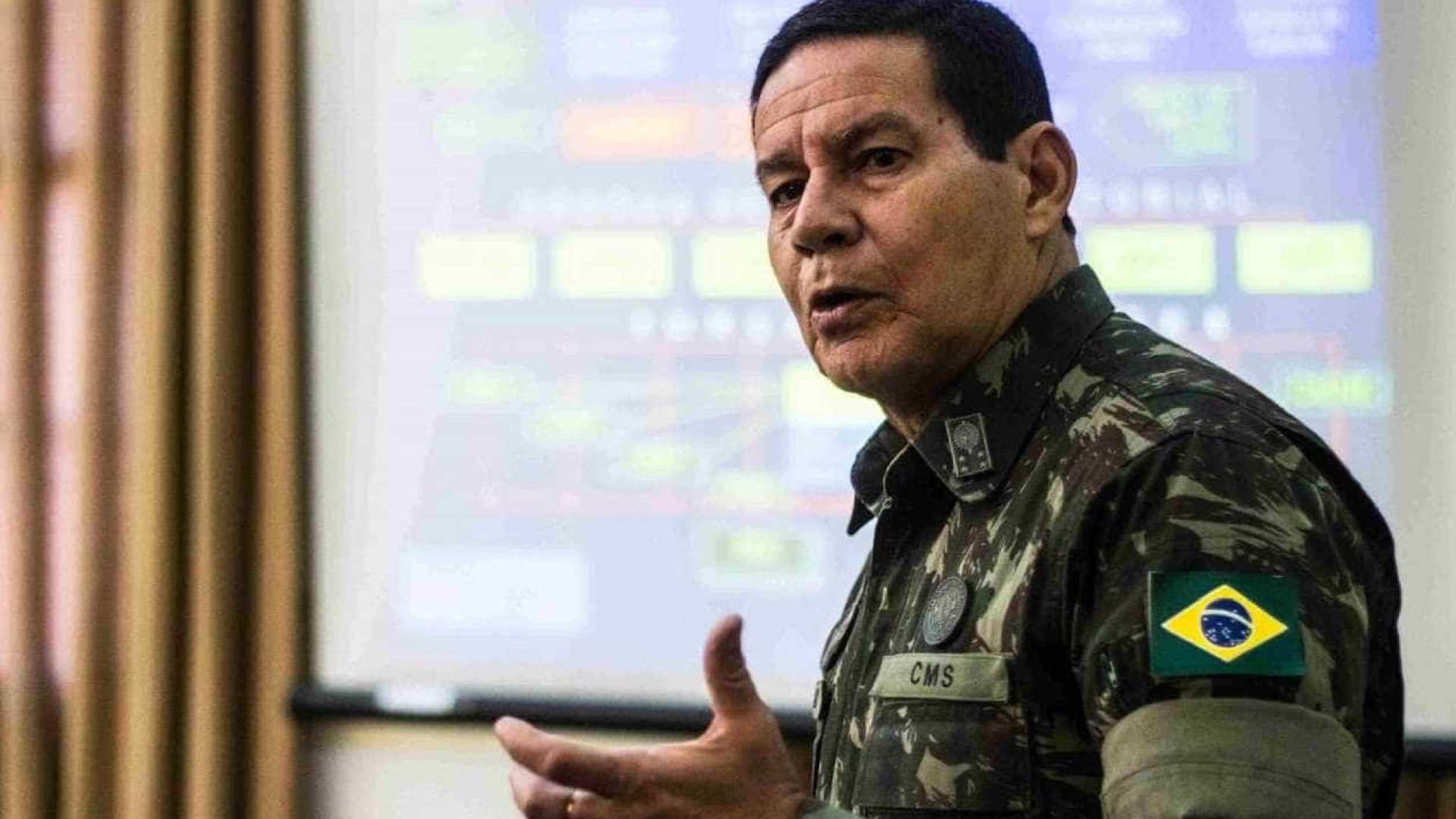 General Mourão recebe presidente do TRF-4 no Rio