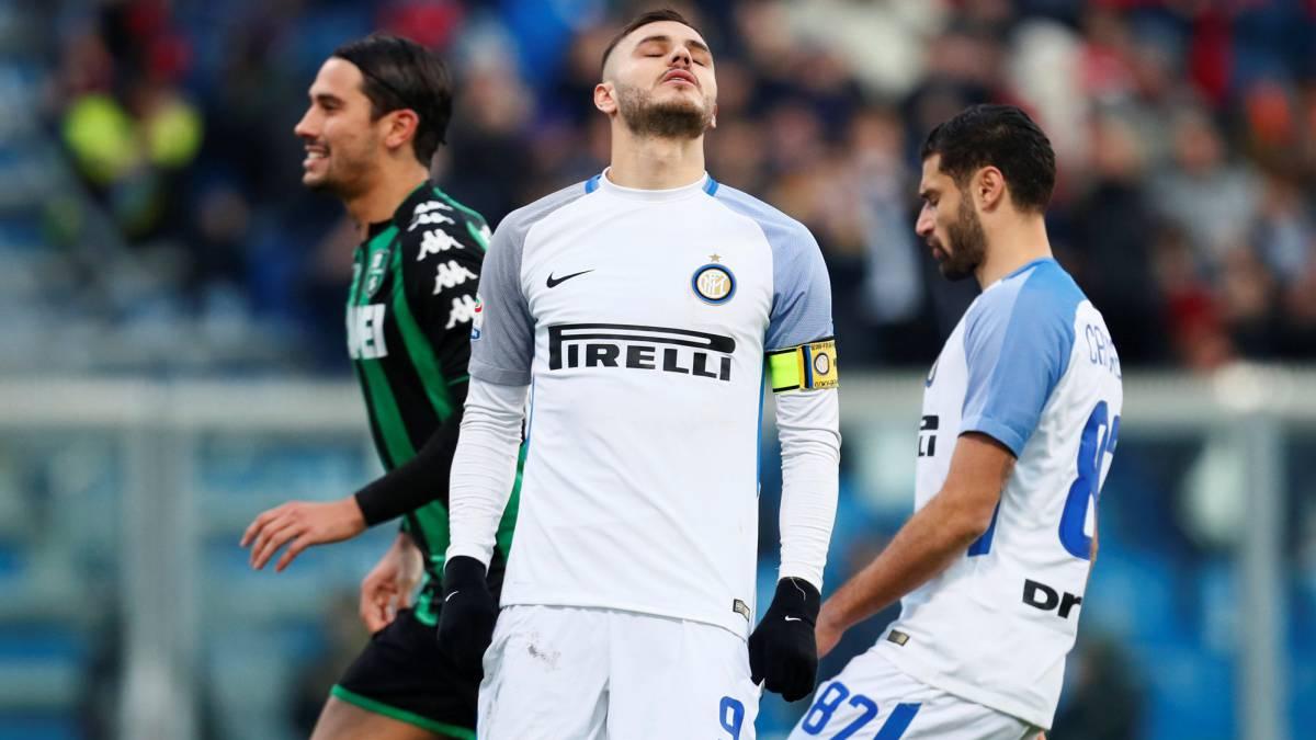 El Inter de Lautaro Martínez y Mauro Icardi cayó ante Sassuolo