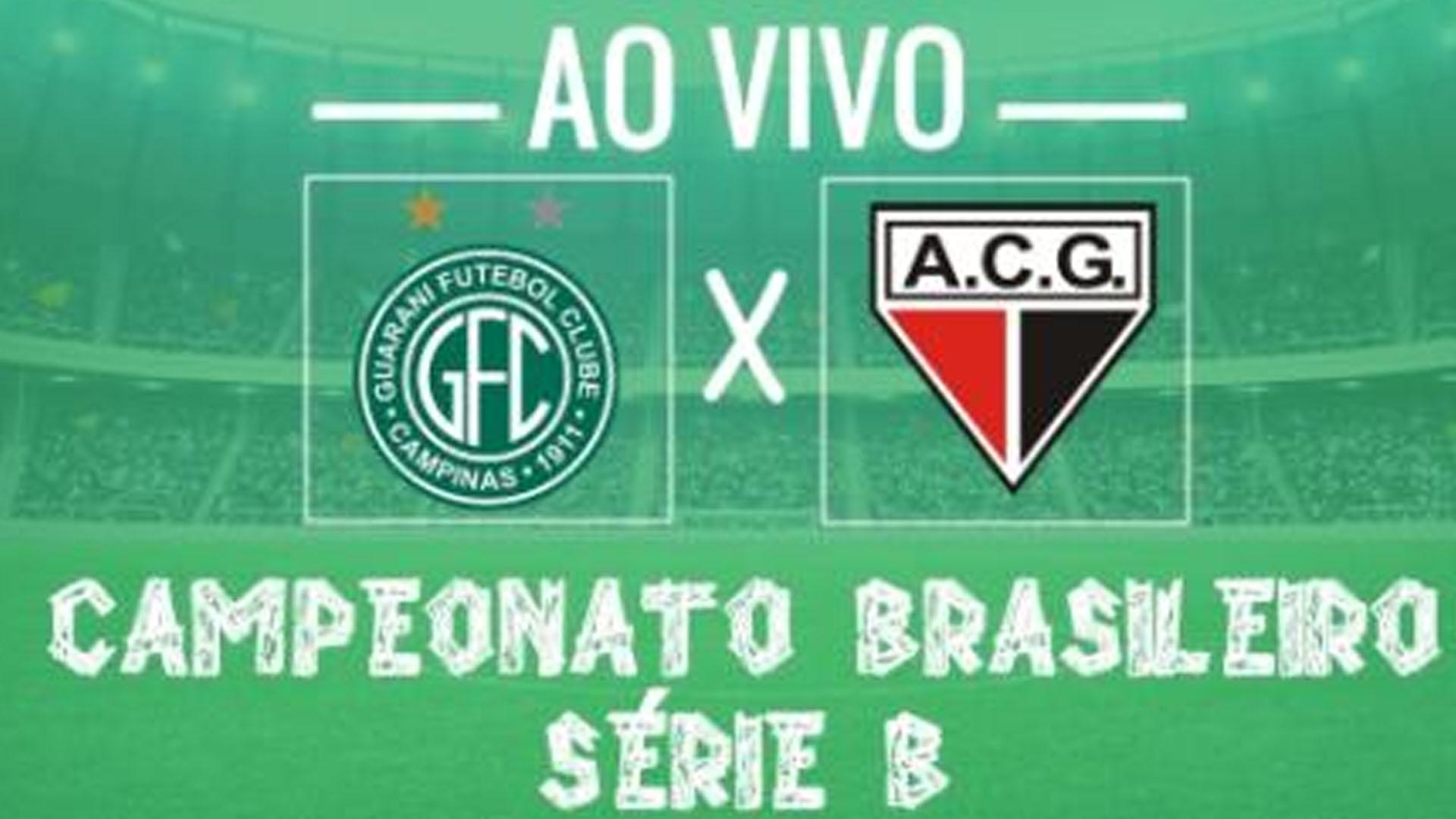 Guarani x Atlético-GO: siga transmissão do jogo ao vivo