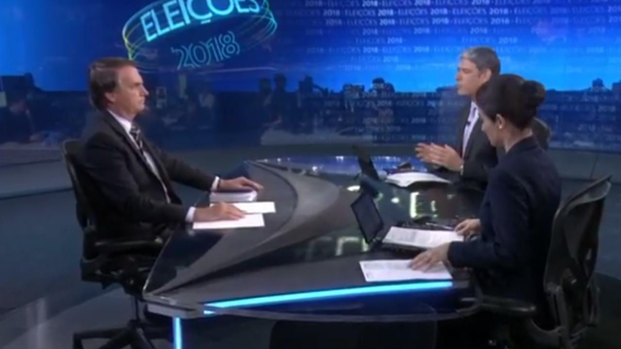 """Bolsonaro leva """"bronca"""" de Renata Vasconcellos"""