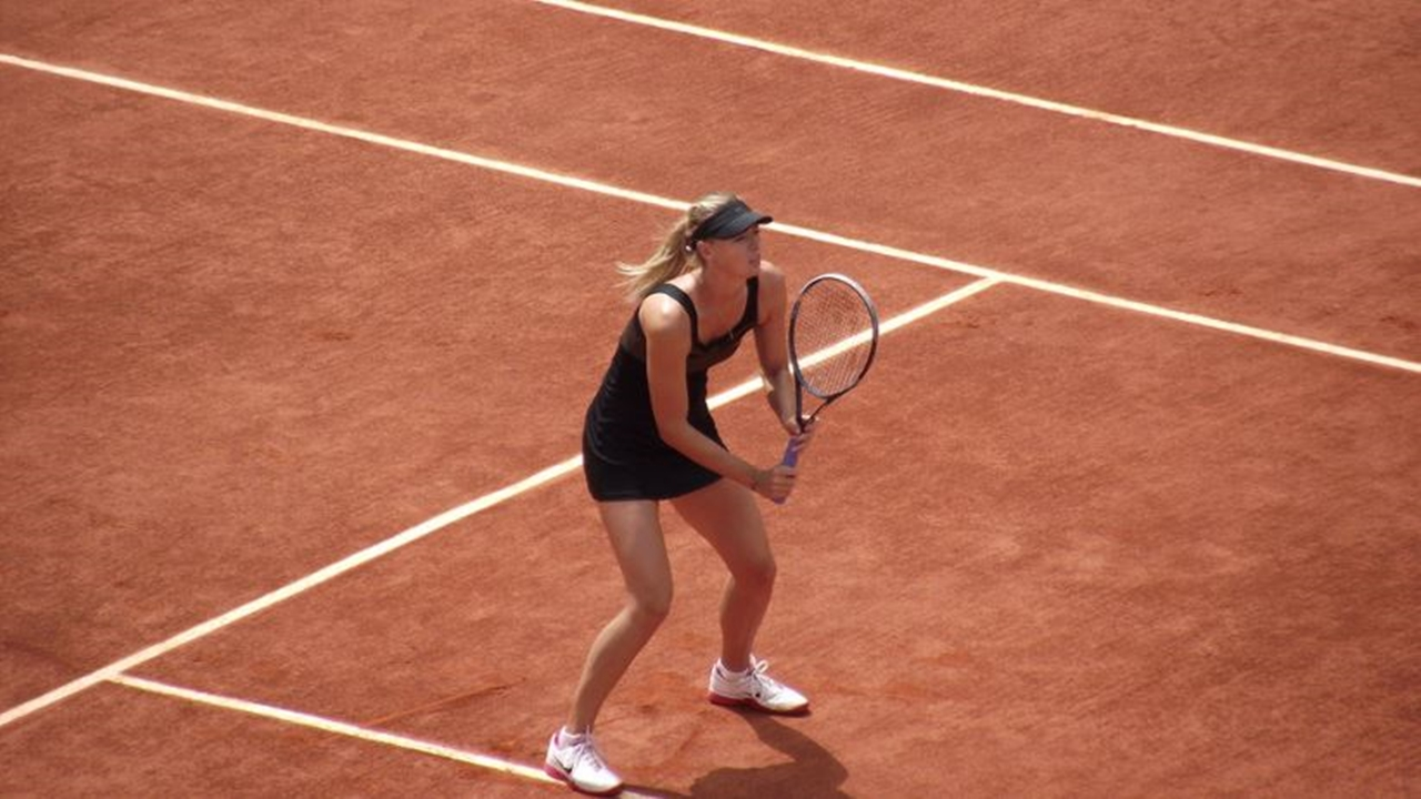 Maria Sharapova looks set for a good US Open with Halep out