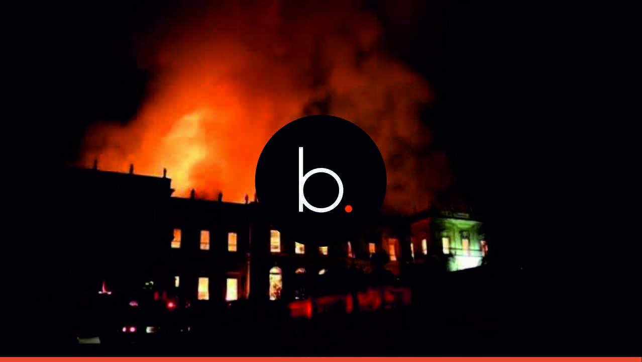 Arde el Museo Nacional de Río de Janeiro