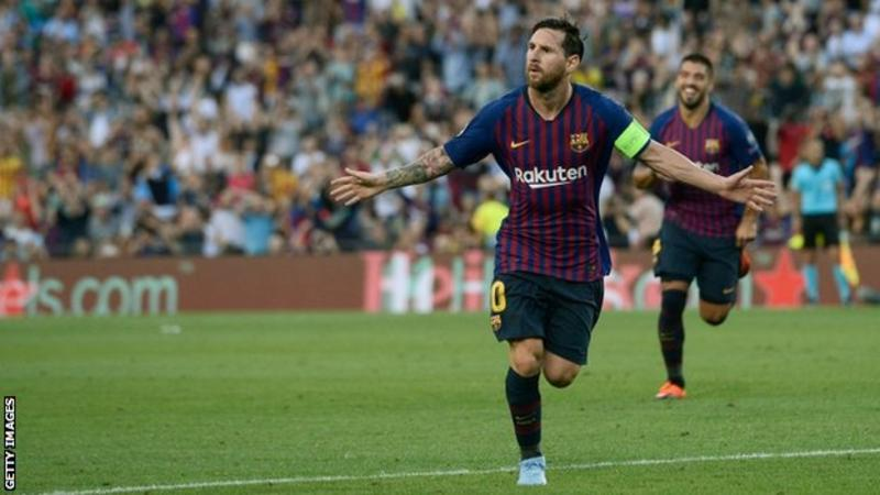 Lionel Messi returns to form with Champions League hat-trick